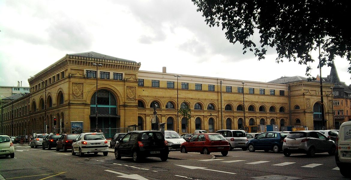 Metz old train station, Roi-Georges place
