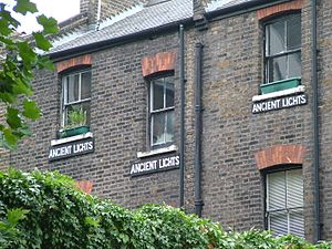 Right to light - Ancient Lights signs in Clerkenwell, London, England