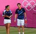 Andy Murray and Laura Robson -Wimbledon, London 2012 Olympics-3Aug2012-c.jpg