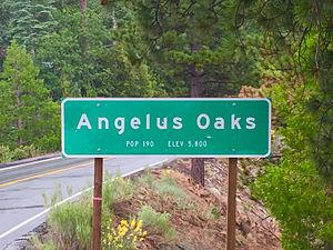 Angelus Oaks, California - Image: Angelus Oaks CA Sign