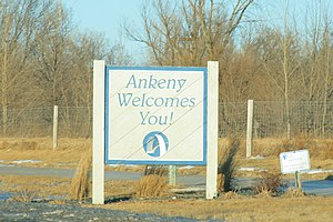 Ankeny, Iowa - Image: Ankeny Iowa 20080104 Welcome Sign
