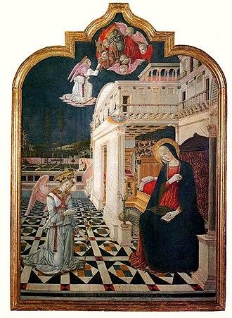 Benvenuto di Giovanni - Annunciation, 1470