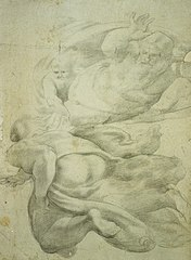 Detail of the Creation from the Sistine chapel, after Michelangelo