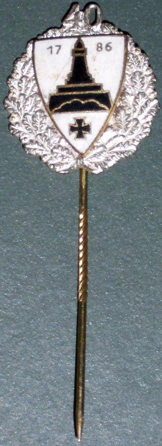 Kyffhäuserbund - Post 1945 Kyffhäuserbund loyalty pin for forty years of membership
