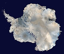 Satelitná snímka Antarktídy