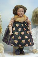 Antique German peasant girl doll (25345220982).jpg
