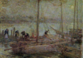 AokiShigeru-1908-Ships at Anchor under the Moon.png