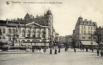 Ixelles - Porte de Namur in around 1900.