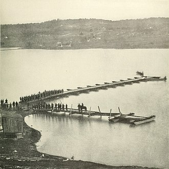Aquia Creek - Aquia Creek Landing in Union control in February 1863. This position swapped hands between the two armies during 1861 and 1862, until the Union established a logistical supply point here for the Army of the Potomac.