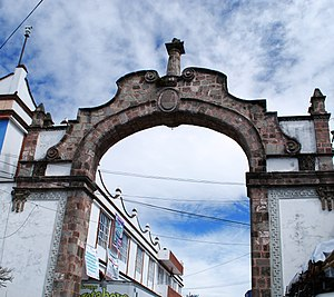 Amecameca - Colonial era arch to the historic center