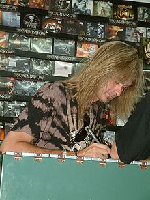 Arjen Anthony Lucassen at a signature event with Stream of Passion in 2006