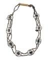 Armband av bergskristall med silver och stålpärlor, 1834 - Hallwylska museet - 110481.tif