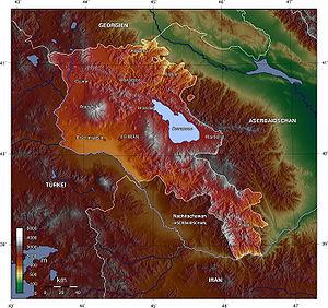 Armenien topo