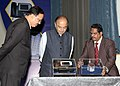 Arun Jaitley releasing the DRDO developed IP-Based Secure Phone and the Gallium Nitride Technology, during the handing over ceremony of the DRDO developed products to the Indian Navy, in New Delhi.jpg