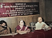 Picture taken during Seminar on Music Research with T S Nandakumar