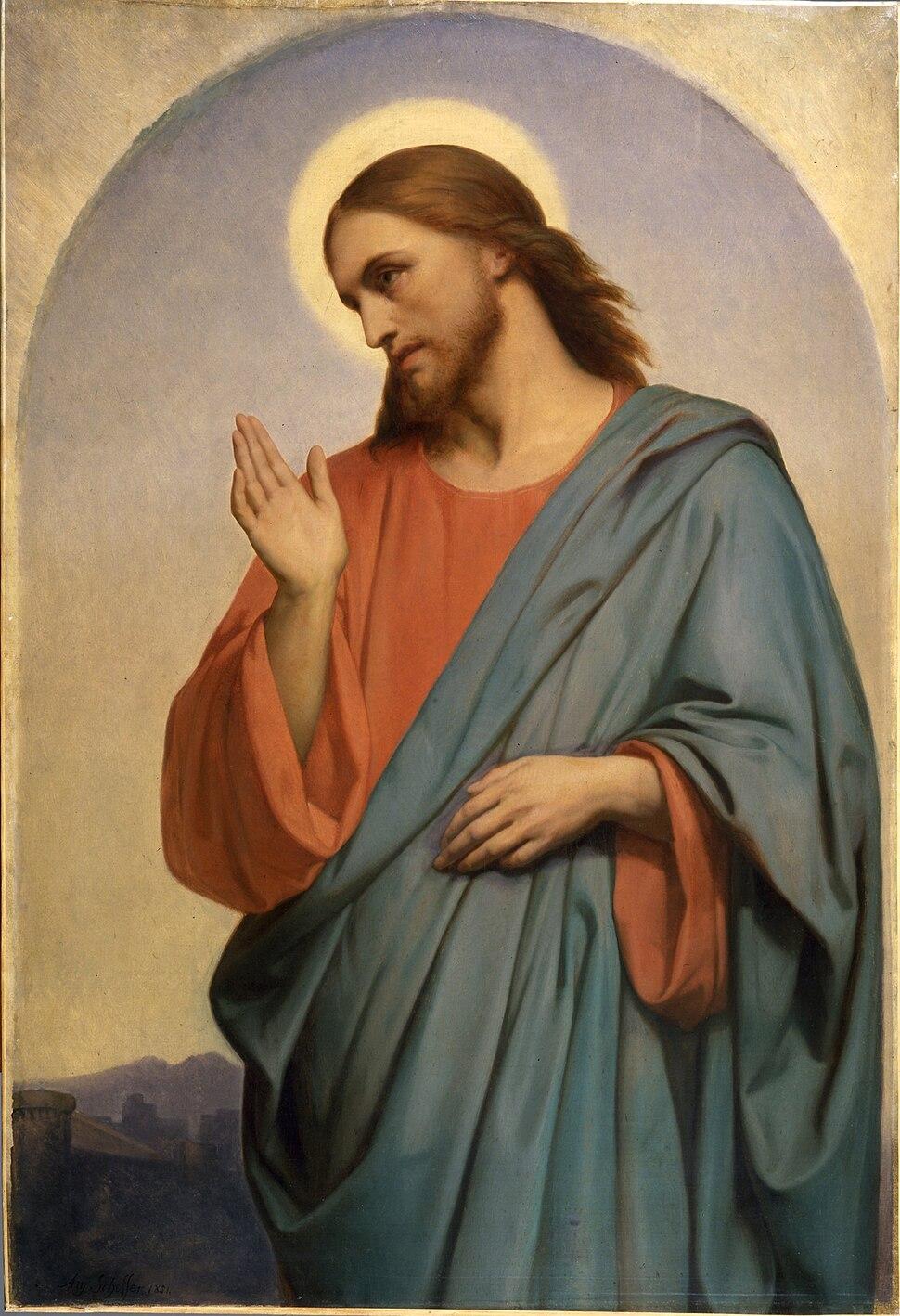 Ary Scheffer - Christ Weeping Over Jerusalem - Walters 37111
