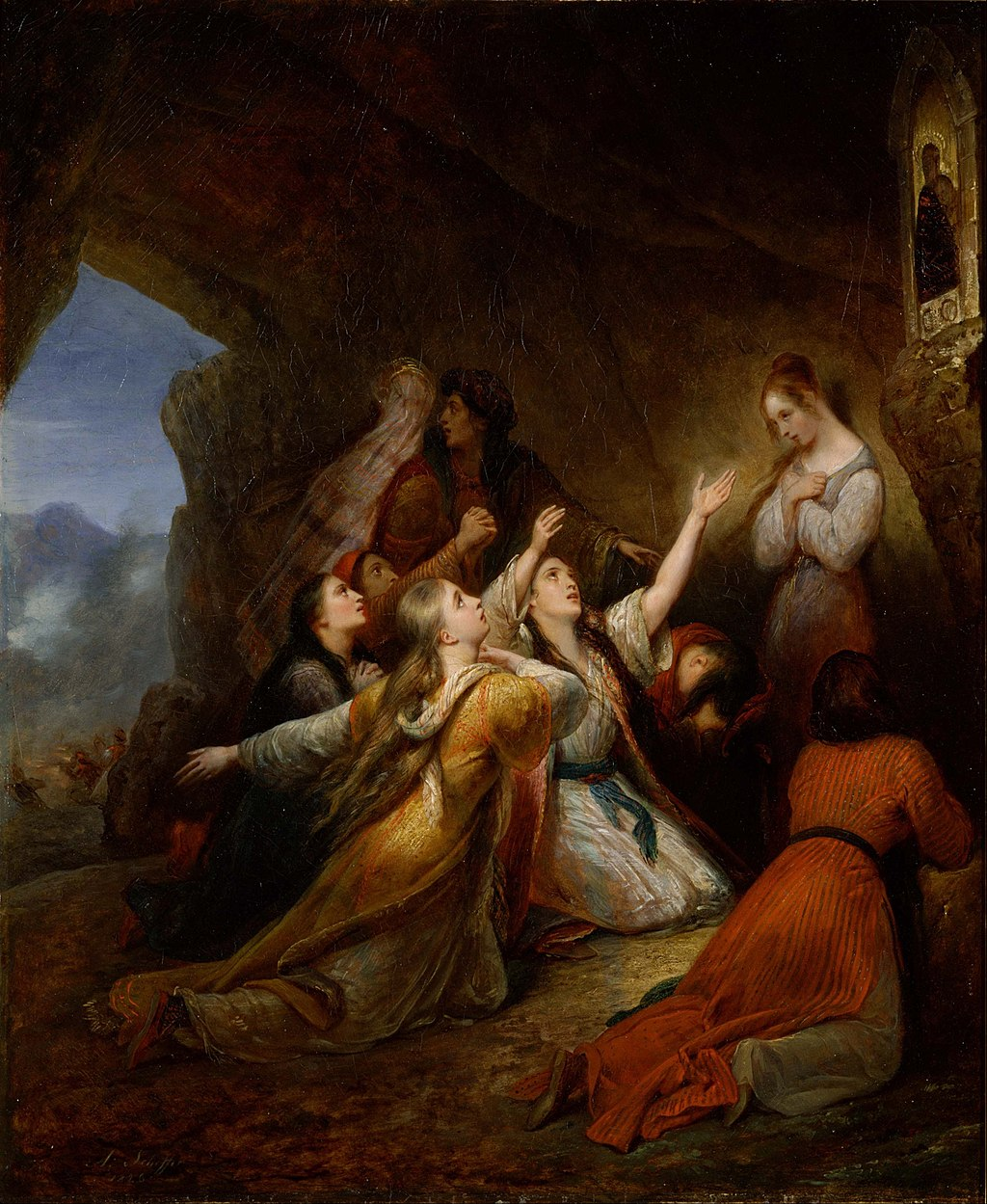 Ary Scheffer - Greek Women Imploring at the Virgin of Assistance - Google Art Project