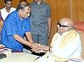 Athiyamaan meets Dr.Karunanidhi regarding inner reservation for Arunthathiyar.jpg