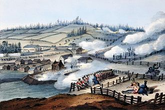 Battle of Saint-Charles - Lieutenant Colonel Wetherall's forces engaged Patriotes at Saint-Charles.