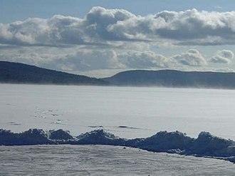 Auclair, Quebec - View of Lake Squatec in Auclair