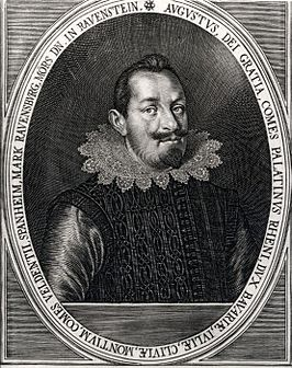 Portret van August, kopergravure door Lucas Killian, 1621.