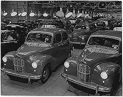 Austin A40 Devon (1948) im Auslieferungslager