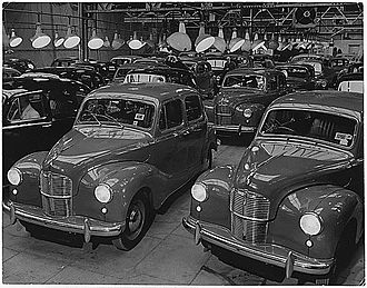 Austin A40 - 2-door Austin A40 Dorsets and 4-door Austin A40 Devons for the home and export markets, from about 1947 until 1952