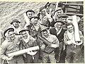 Australian naval gunners with 4.7 inch ammunition 1944 AWM 016472.jpeg