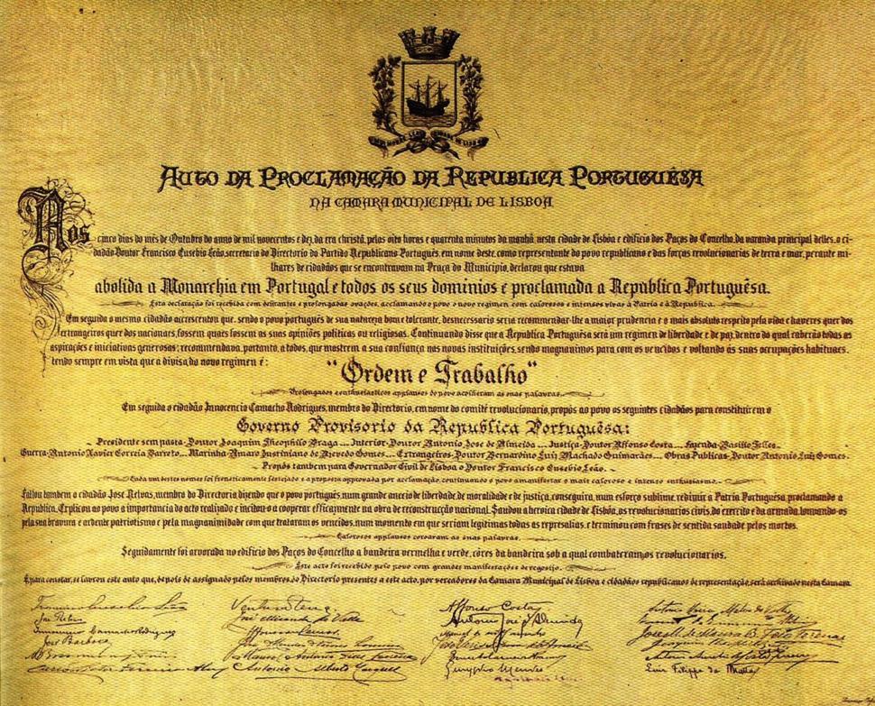 Auto da Proclamação da República Portuguesa