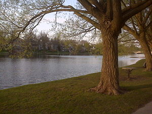 Avon River (Ontario) - Another view of Lake Victoria in Stratford
