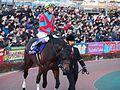 Awardee and Yutaka Take in Tokyo Daishoten at Oi racecourse (31952379826).jpg