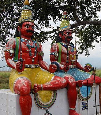 Aiyanar - Ayyanar, guardian folk deity of Tamil Nadu.