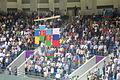Azeri fans at Heydar Aliyev Arena (Judo at the 2015 European Games) and awarding ceremony.JPG