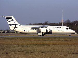 Aegean Airlines - Aegean Airlines used BAe Avro RJ100s between 1999-2011
