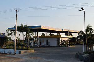 Bharat Petroleum - BPCL petrol filling station near Nakirekal, Telangana, India