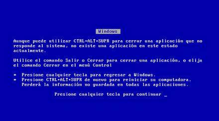 Pantalla Azul Mac la Pantalla Azul de Windows