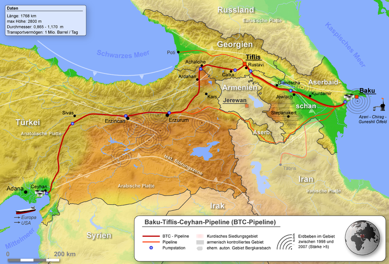 summary of the baku ceyhan pipeline