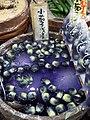 Baby eggplant tsukemono by wilbanks in Nishiki-ichiba, Kyoto.jpg