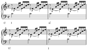 Ii–V–I progression - Image: Bach Well Tempered Clavier, Book I, Prelude I, opening