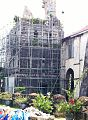 Baclayon Church tower rebuilding after collapsing during the 2013 earthquake.jpg
