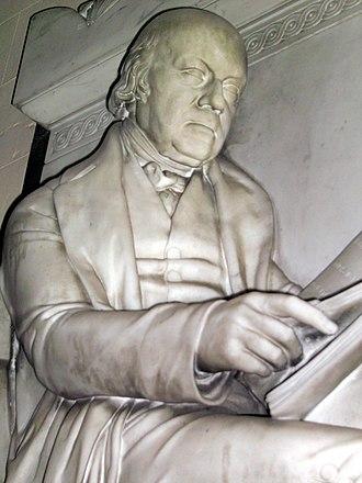 Isaac Hawkins Browne (coal owner) - Isaac Hawkins Browne: detail of his memorial in the parish church, Badger, Shropshire.