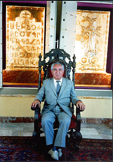Baghdasar Arzoumanian Baghdasar Arzoumanian was a leading 20th century Armenian architect based in Yerevan Armenia, author of 8 Armenian churches, Alex and Marie Manoogian museum, the Golden Alphabet, the Golden Cross, and numerous other projects.