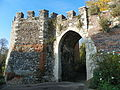 Bailey Walls, South East Range to Hertford Castle 016.JPG