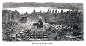 Rail transport in Azerbaijan - First railway line of Azerbaijan between Sabunçu to Suraxanı in Baku.