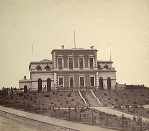 Ballarat East, Victoria - Ballarat East Town Hall in 1862 (now demolished)