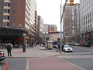 Ballston, Arlington, Virginia - Ground-level view of Ballston Metro Station