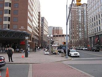 Ballston, Arlington, Virginia - Ground-level view of Ballston Metro Station