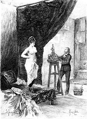 La Bourse - Illustration from an 1897 edition  by Georges Cain
