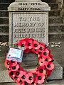 Bamford War Memorial, Dedication - geograph.org.uk - 2174799.jpg