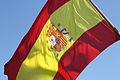 Bandera de España en la popa del Buque Escuela Juan Sebastián de Elcano (14714802214).jpg